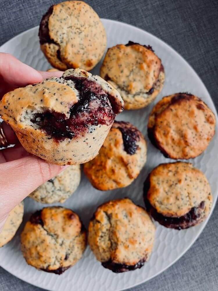 Jam and poppyseed muffins, kids muffins, great lunchbox ideas for kids, lunchbox ideas for school, lunchbox ideas healthy, easy lunchbox recipes, lunchbox ideas australia