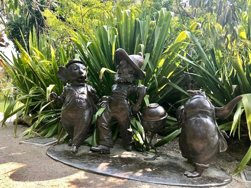 Ian Potter Foundation Children's Garden Magic Pudding sculpture, things to do with kids in melbourne, things to see in melbourne with kids