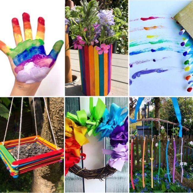 kids craft ideas, kids crafts for easter, kids crafts easy, rainbow crafts, kids art activities, kids play ideas